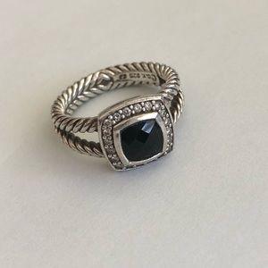 David Yurman Albion Ring, black onyx size 7